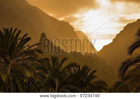 Tenerife On Sunset