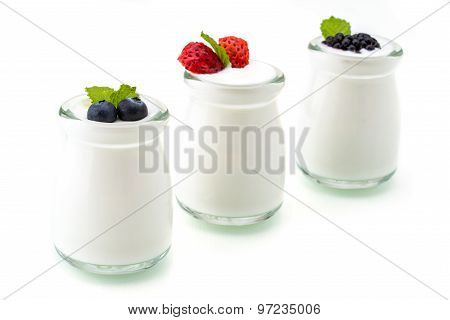 Healthy Breakfast With Yogurt And Berry, Dieting, Freshness