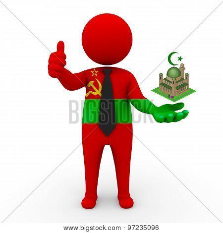 3d businessman people Transnistria - Muslim mosque and Islam in Transnistria