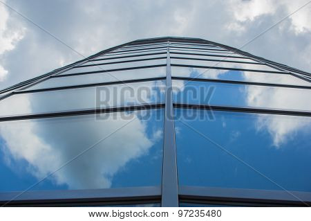 window reflection dayligh as blue background