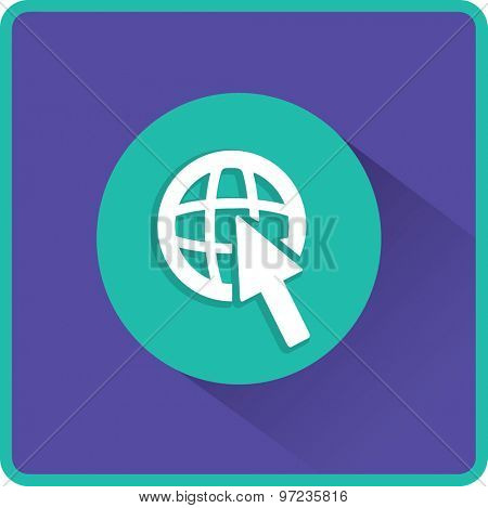 Flat Vector Internet Icon