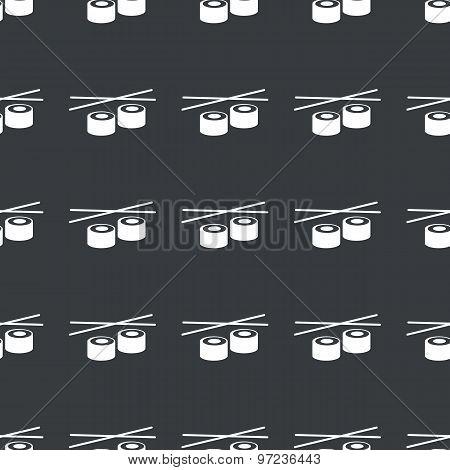 Straight black sushi pattern