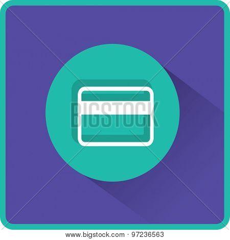 Flat Vector Bank credit card Icon