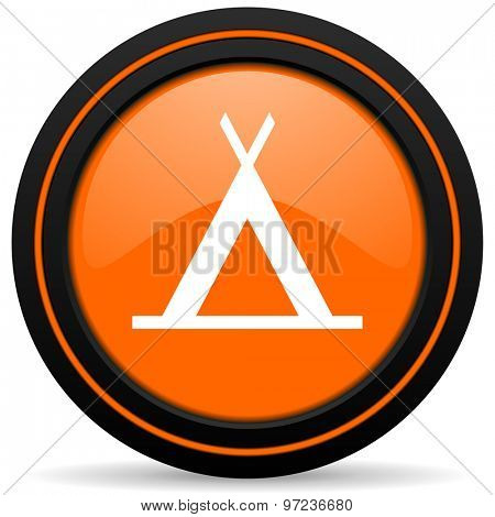 camp orange icon