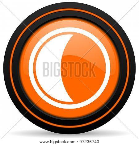 moon orange icon sleep sign