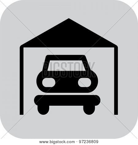 Vector illustration of parking garage icon