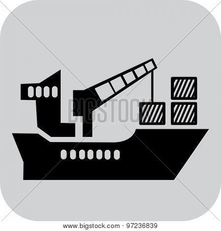 icon cargo ship