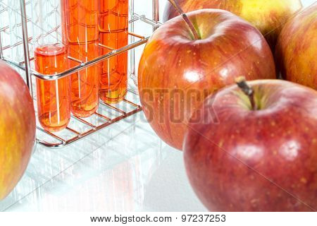 Vegetable Test,  Genetic Modificationm,apple