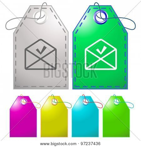 mail ok. Vector tags.