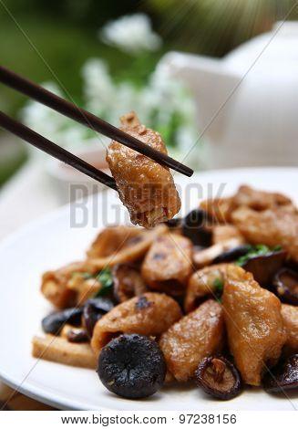 Close-up Chinese food