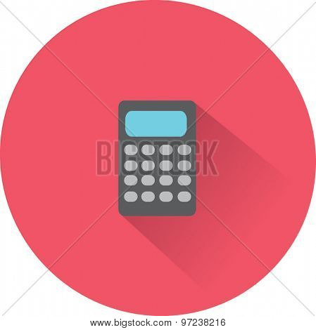 Flat Vector Calculator Icon