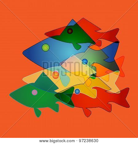Pattern To Any Surface With Marine Fish