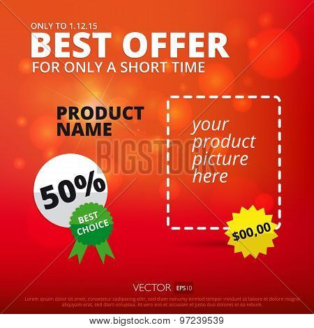 Vector sale background. Best offer.