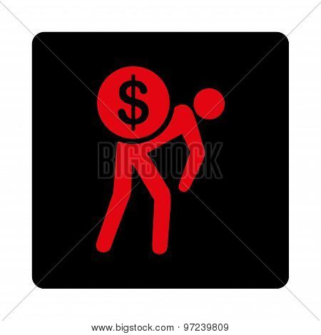 Money courier icon