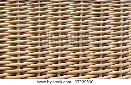 Woven Wicker Basket Background