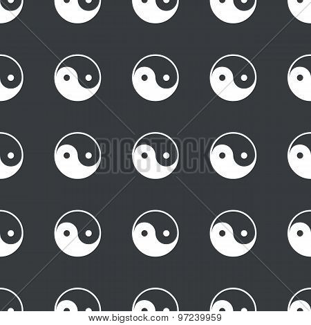 Straight black ying yang pattern