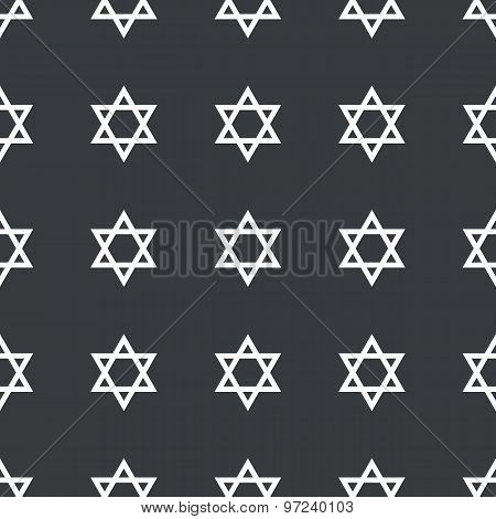 Straight black Star David pattern