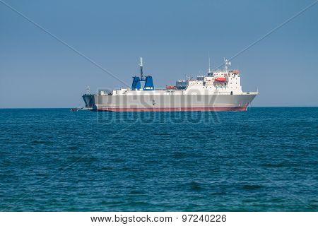 Big Cargo Ship In Sea