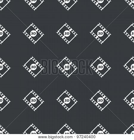 Straight black 3D movie pattern