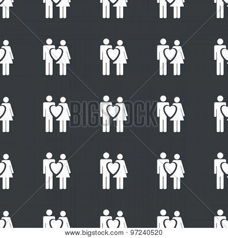 Straight black love couple pattern
