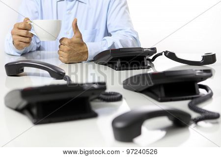 Coffee Break In The Office, Like Hand , Phones Off