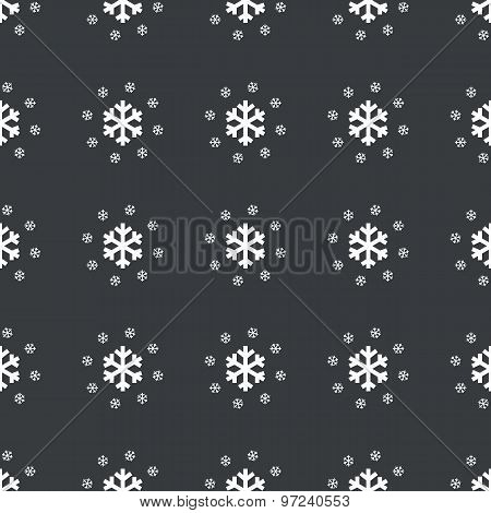 Straight black snowflakes pattern