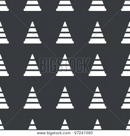 Straight black traffic cone pattern