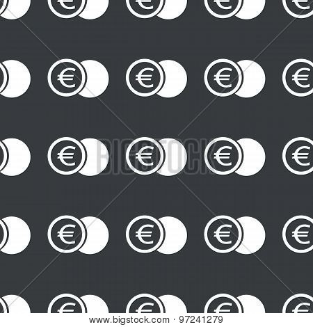 Straight black euro coin pattern