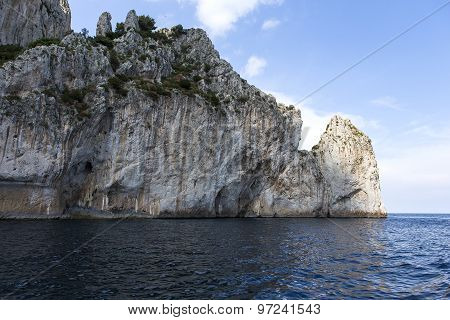 Cliffs Of Capri Island, Capri, Italy