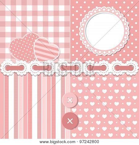 Pink Scrapbook Set