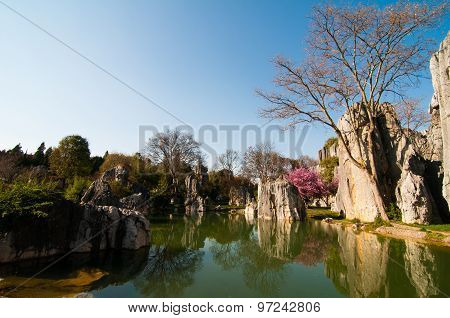 Stone forest in Kunming, China