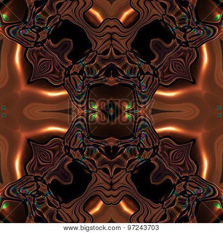 Abstract Metallic Bronze Viking Or Celtic Like Pattern Made Seamless