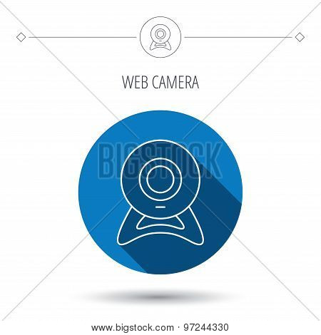 Web cam icon. Video camera sign.