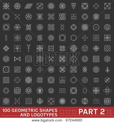 Set Of 100 Geometric Hipster Shapes12 2Black