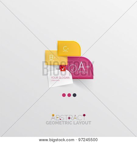 Modern abstract geometric info banner, business presentation or web box