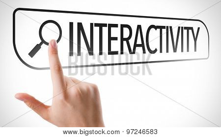 Interactivity written in search bar on virtual screen
