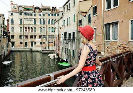 beautiful girl in Venice