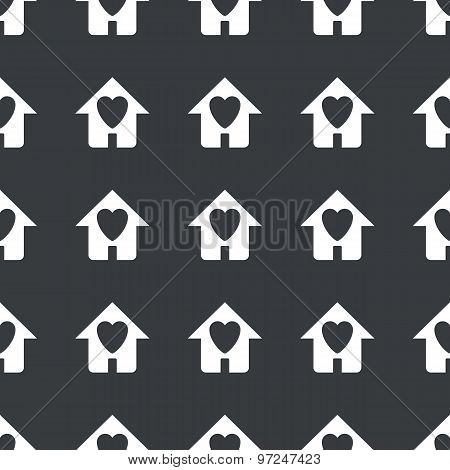 Straight black beloved house pattern