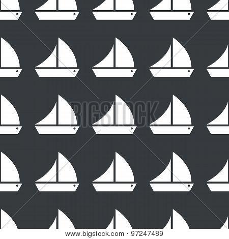 Straight black sailing ship pattern