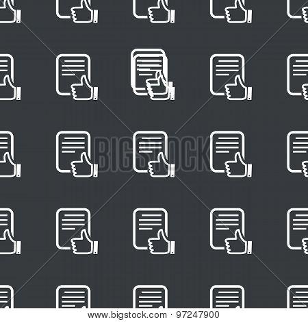 Straight black good document pattern
