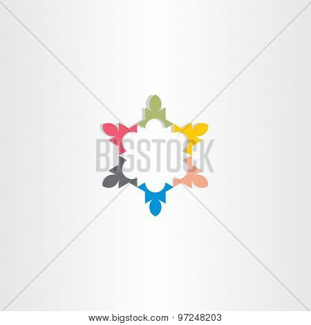 Teamwork Vector Business Icon Colorful Symbol Design