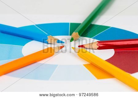 Colorful Pencils With Pie Chart 1