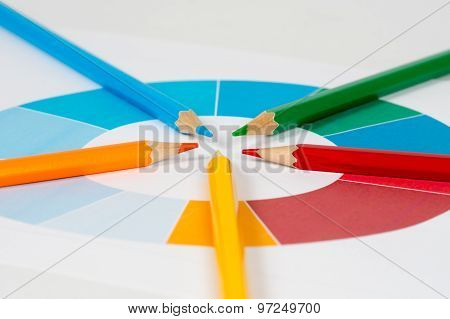 Colorful Pencils With Pie Chart 2