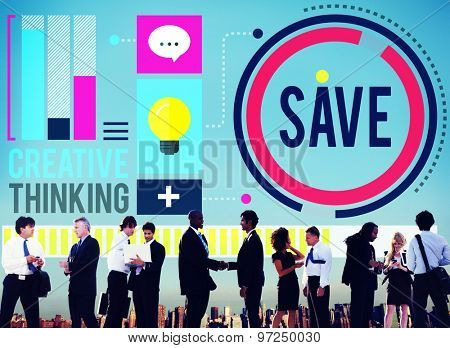Save Savings Banking Money Concept