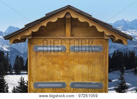 Wooden House From The French Alps