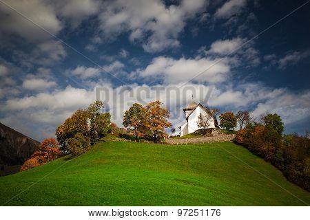 Small church in Swiss Alps