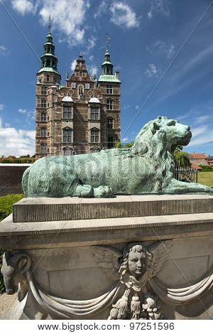 Rosenborg Castle And Park In Central Copenhagen