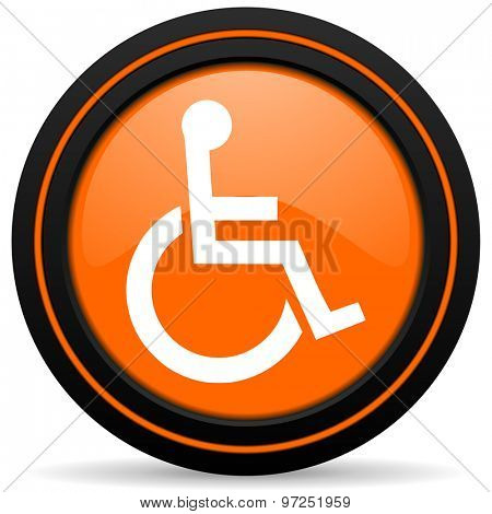 wheelchair orange icon