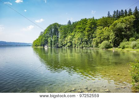 An image of the Kochelsee in Bavaria Germany