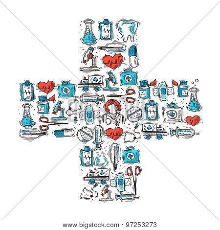 Medical Cross Shape